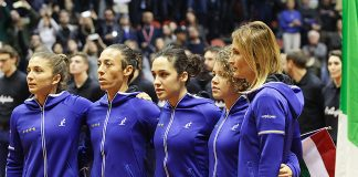La squadra azzurra di Fed Cup (foto Costantini)